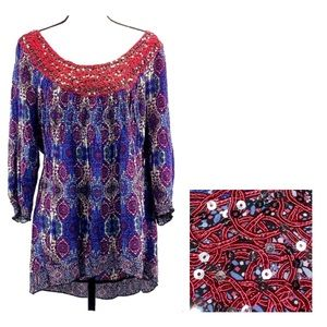 Live and Let Live Pheasant Top Plus Size 2X